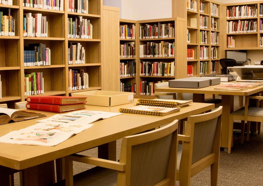 Foto de interior de biblioteca
