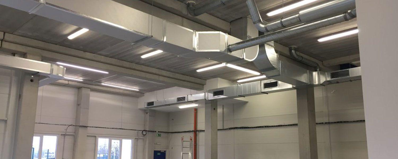 Interior ambiente con ductos